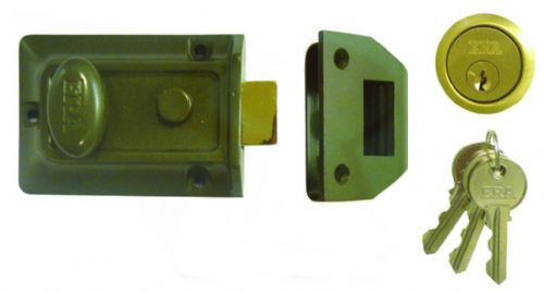 ERA NIGHTLATCH STD GREEN + SATIN CHROME 135-82
